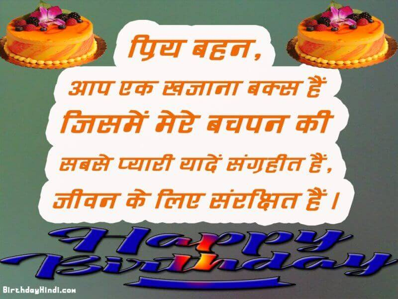 Happy Birthday Wishes To Elder Sister In Hindi Archives Birthdayhindi
